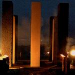 Luxemburg-Illumination-of-Meditation-Pillars-part-of-Light-of-Hope-Initiative-WDR-2012